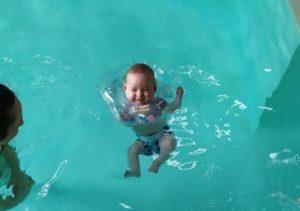 Let the baby swim